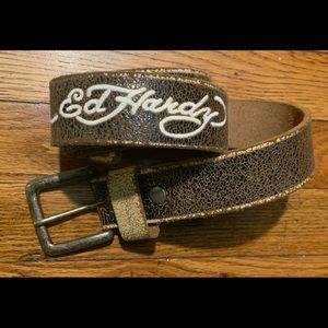 Vintage style Ed Hardy men's belt